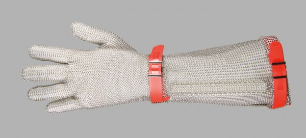 Niroflex Stechschutzhandschuh rot / Gr.3 / M mit 19 cm langer Stulpe