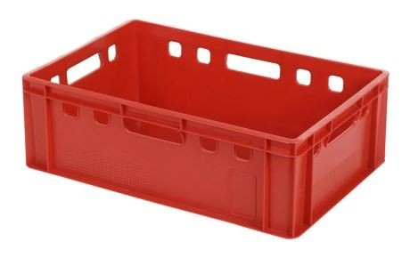 Fleischkästen Euro-Norm E2, rot, 20 l, 600x400x200 mm