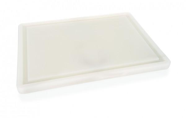 Schneidebrett, Kunststoff, 60 x 40 x 2 cm, mit Saftrille