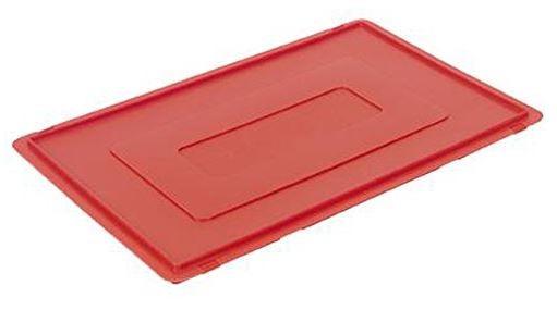 Deckel für Fleischkästen Euro-Norm E1/2/3, rot, 60 x 40 x 2,5 cm