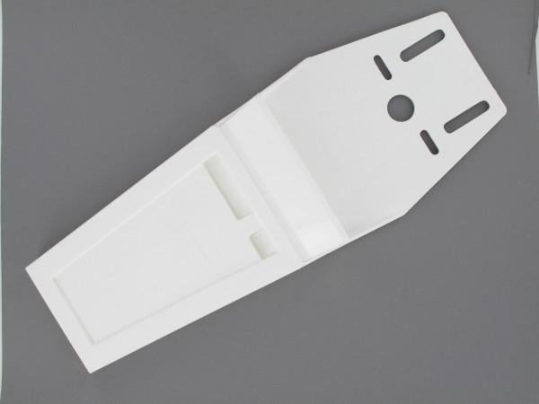 Messerscheide weiß, flach, für 2-3 Messer inkl. Gürtel und Riemen